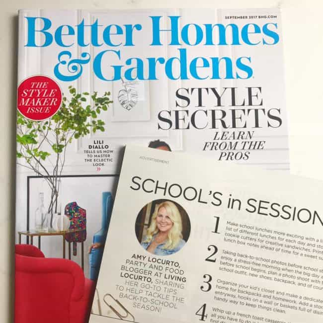 Amy Locurto - Social Media Influencer DIY Lifestyle Party Food Blogger Feature in Better Homes & Gardens - Living Locurto