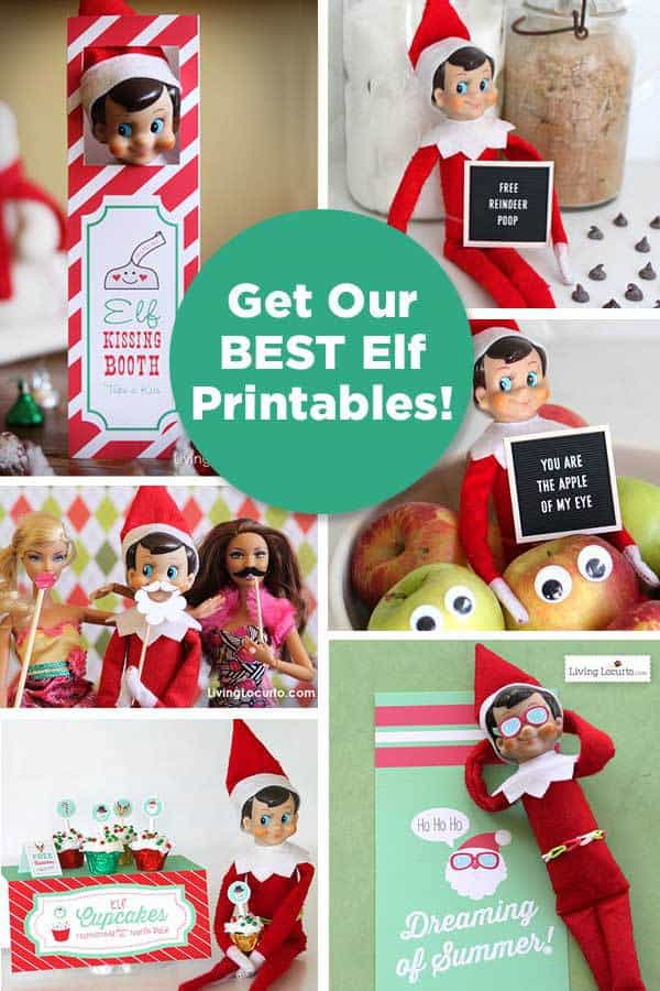 Get Printables Each Month! Join the Living Locurto Fun Club for access to the best Elf printables!